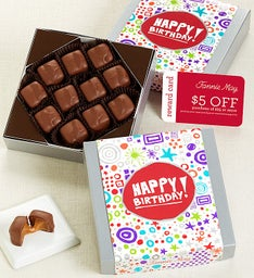 Fannie May® Birthday Caramels Chocolate Card