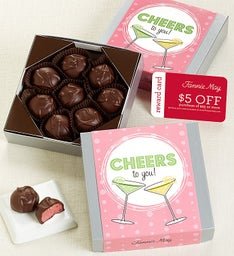Fannie May® Cheers Raspberry Creams Choc Card