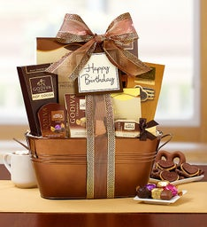 Godiva® Decadence Birthday Gift Basket