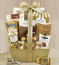 Gilded Splendor Holiday Gift Basket