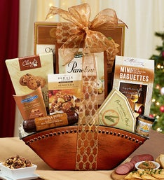 Enticing Gourmet Sweets & Savories Gift Basket