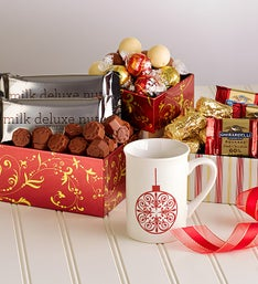 Christmas Cheer Mug & Chocolates Tower