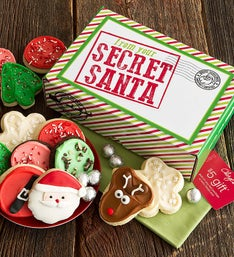 Cheryl's Secret Santa Box with Frosted Cut-Outs