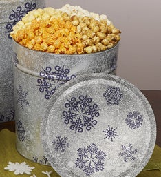 Popcorn Factory 3 Way Snowflake Popcorn Tin 3.5G