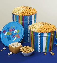 The Popcorn Factory Hannukah 3 Way Popcorn Tin