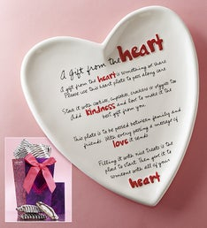 A Gift from the Heart Keepsake Plate & Sweets Set