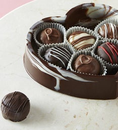 Dilletante Chocolate Heart Box with Truffles