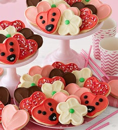 Cheryl's Frosted Hearts & Flowers Cut-Out Cookies