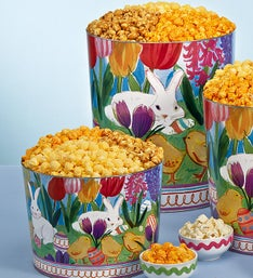 The Popcorn Factory Easter In Bloom Popcorn Tin