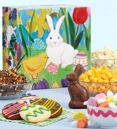 The Popcorn Factory Easter In Bloom Sampler Box