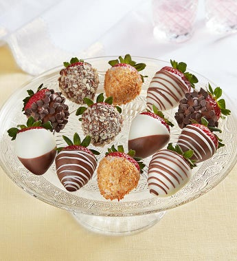 Fannie May Deluxe Chocolate Covered Strawberries