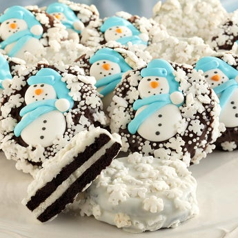 Snowflake Belgian Chocolate Covered Oreo® Cookies