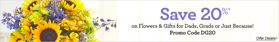 Save 20% on Flowers & Gifts