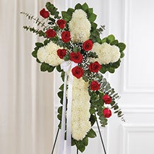 Standing Crosses, Hearts & Wreaths