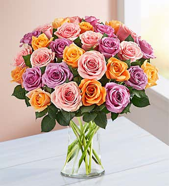Mother's Day Sorbet Roses, 18-36 Stems