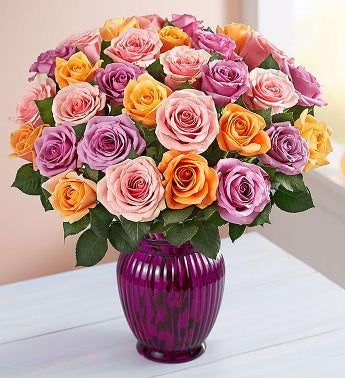Sorbet Roses for Mom, 18 Stems