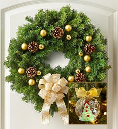Warm Welcome Wreath - 22""
