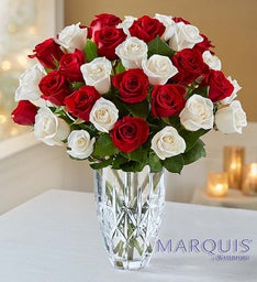 Marquis by Waterford® Vase and Roses