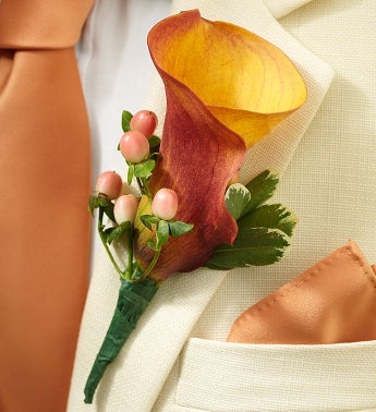 Golden Sunset Boutonniere