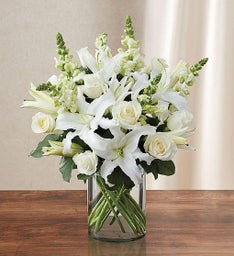 Classic All White Sympathy Arrangement