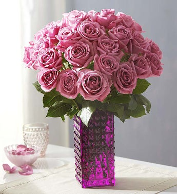 Passion for Purple Roses, 12-24 Stems