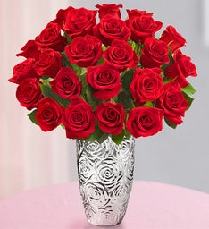 Two Dozen Lovely Mom Red Roses