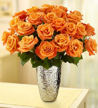 Orange Roses, 12-24 Stems