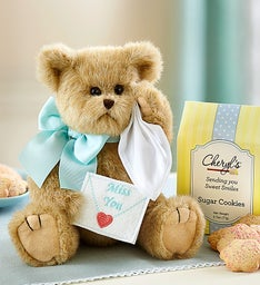 Bearington® Beary Blue Miss You Bear and Cookies