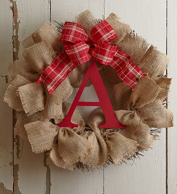 Personalized Burlap Wreath – 18
