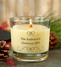 Personalized Seasonal Woodwick Candle
