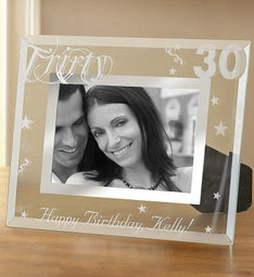 Personalized Milestone Birthday Frame