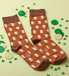 Shamrock Socks for Women and Beer Socks for Men