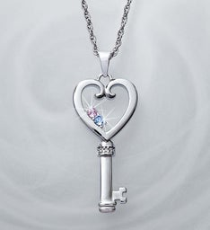 Personalized Couple's Key to My Heart Pendant