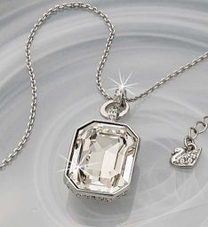 SWAROVSKI® Clear Crystal and Pave Pendant