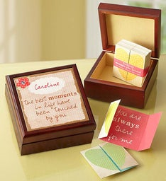 Personalized Keepsake Box with Inspirational Notes