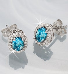 Semi-Precious Stone & Diamond Earrings