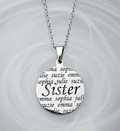 Personalized Pendant- Sister, Mother, or Grandma