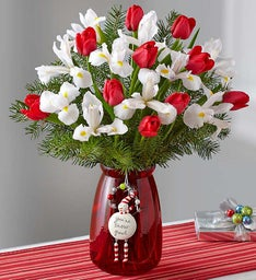 Holiday Tulip & Iris Bouquet