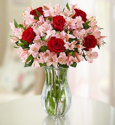 True Love Rose & Peruvian Lily + Free Vase