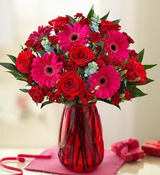 Valentine's Day Rose & Gerbera Daisy Bouquet