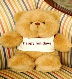 Happy Holiday Personalized Brown Bear
