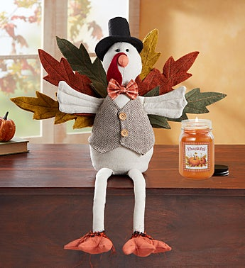 Festive Turkey and Candle