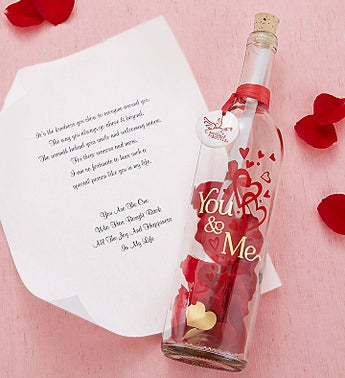 Personalized Message In A Bottle® 'You & Me'