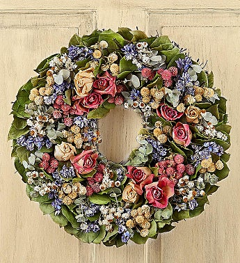 Preserved Rose Wreath-16""