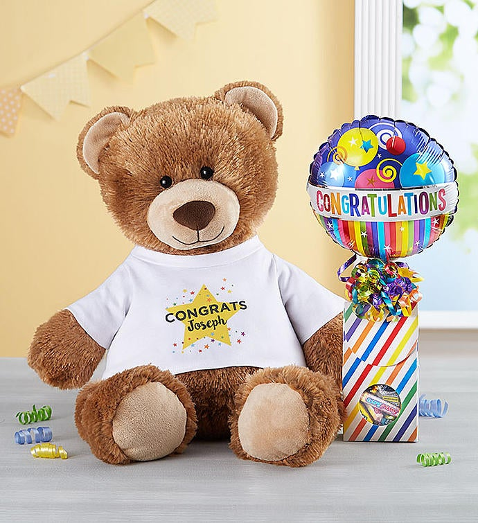 Personalized Tommy Teddy™ 'Congratulations'