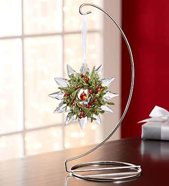 Mistletoe Snowflake Ornament by Kissing Krystals®