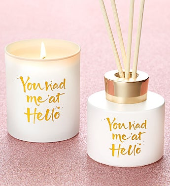 You Had Me At Hello Candle and Diffuser Gift Set