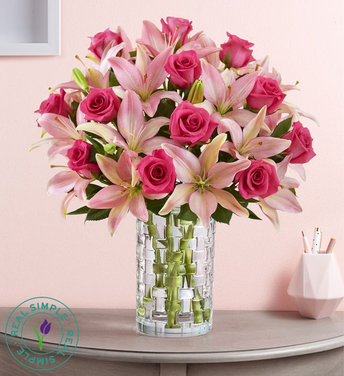 Pink Rose & Lily Bouquet by Real Simple®