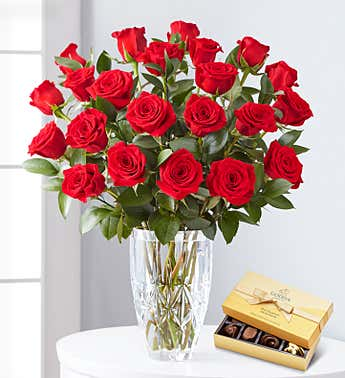 Premium Red Roses, 12-24 Stems