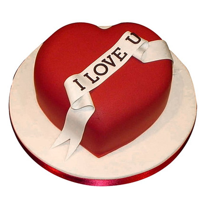 Red Heart Love You Cake